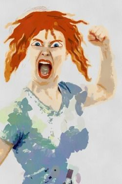 woman expressing anger