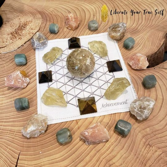 wealth attraction crystal grid