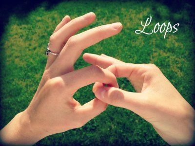dowsing with fingers loops