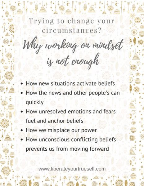 changing your circumstances and mindset