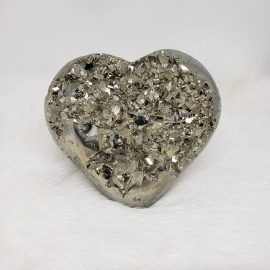 carved pyrite heart