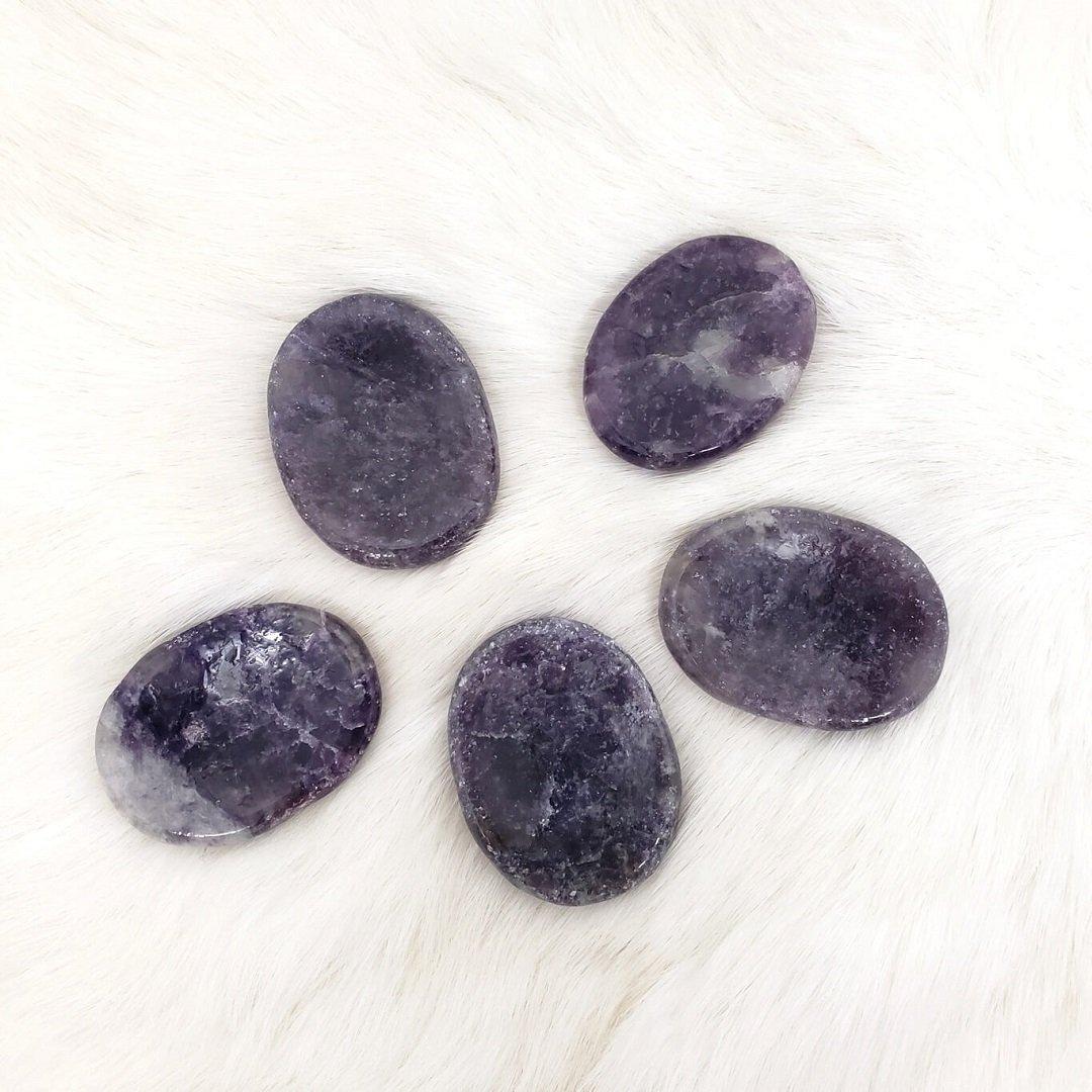 Lepidolite Worry Stone