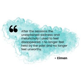 Testimonial healing - quote from Eiman
