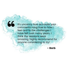 testimonial healing - quote from barb