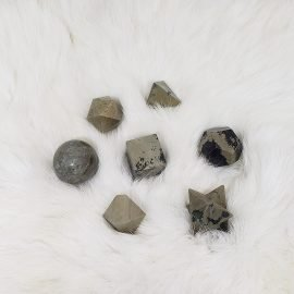 Pyrite Sacred Geometry Set
