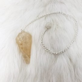 Natural Citrine Pendulum