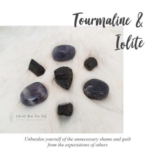 Unburdening yourself - tourmaline and Iolite