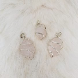 Rose Quartz Pendant Raw