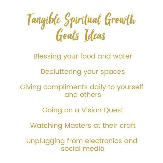tangible spiritual growth goals