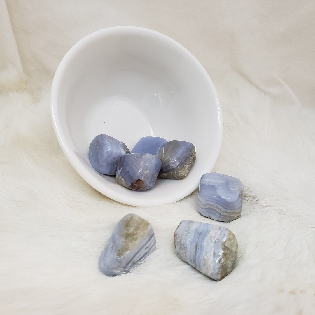 Blue Lace Agate Tumble