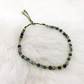 Adjustable Moss Agate Bracelet