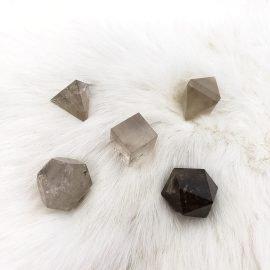 smoky quartz sacred geometry set