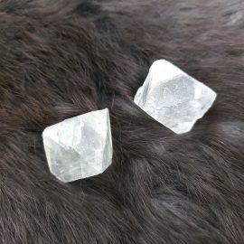 transparent fluorite octahedron