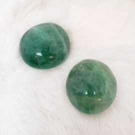 green fluorite palmstone