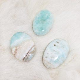 Blue Caribbean Calcite Palmstone