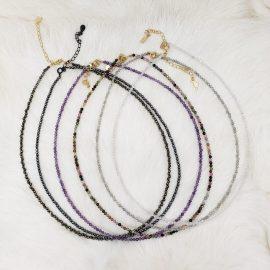 Small Bead Gemstone Necklace