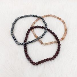 sacral chakra bracelet set - hematite - garnet - sunstone