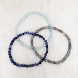Throat Chakra Bracelet Set