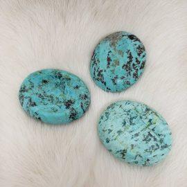 chrysocolla worry stone - turquoise style