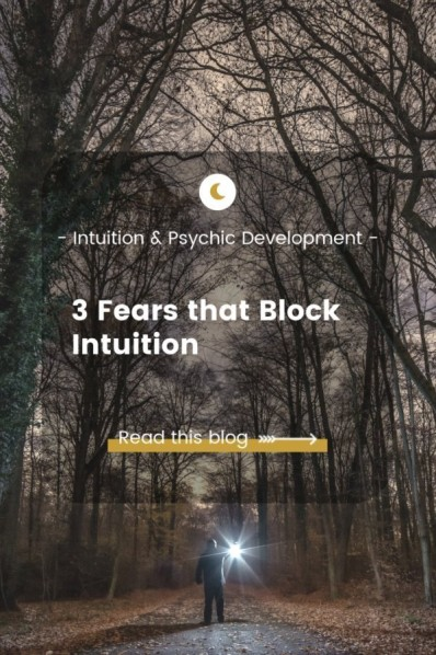 3 Fears that Block Intuition Blog - Man in dark forest