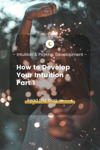 How to develop intuition Blog - woman with sparkles
